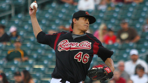 Jesse Chavez has struck out 18 in two starts for the River Cats.